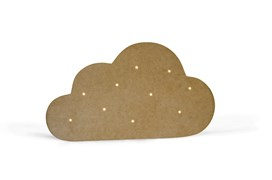 SET 2 CLOUDS W/LEDS W/SUPPORT 41.8X24X1.2CM MDF