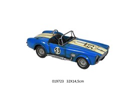 RACE CAR BLUE 32X14.5X11CM