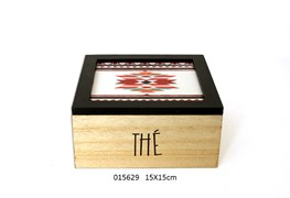 TEA BOX 15X15CM FOLK