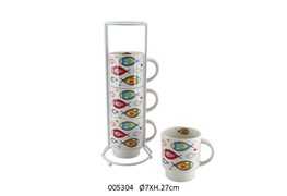 SET 4 MUGS C/SUP 27CM D.7CM 200ML ONDINE
